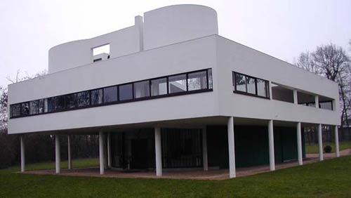 Вилла Савой,Le Corbusier, 1928, France