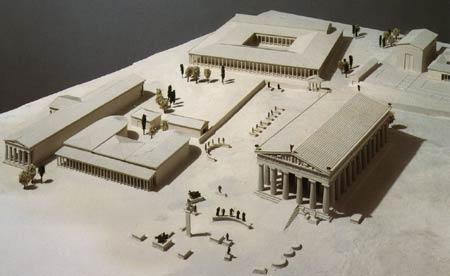 Макет храмового комплекса в Олимпии