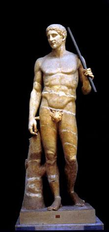 Дорифор. Римская копия скульптуры Поликтета
