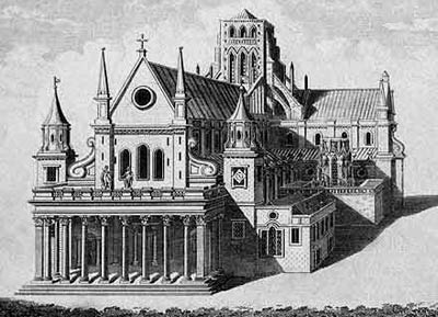 Собор Св. Павла (St Pauls Cathedral) на площади Ковент-Гарден (Covent Garden), проект Иниго Джонса (Inigo Jones)