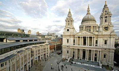 Собор Св. Павла (St Pauls Cathedral) на площади Ковент-Гарден (Covent Garden), архитектор Кристофер Рен(Christopher Wren)