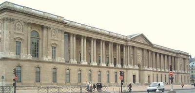 Восточный фасад Лувра.(Louvre) Архитектор Клод Перро (Claude Perrault)