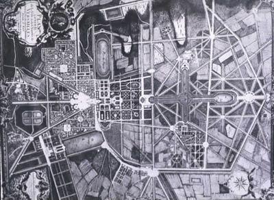 Планировка центра Парижа. Андре Ленотр (Andre Le Notre)