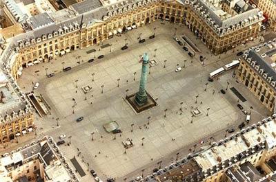 Вандомская площадь (Place Vendome) Архитектор Жюль Ардуэн-Мансар (Jules Hardouin-Mansart)