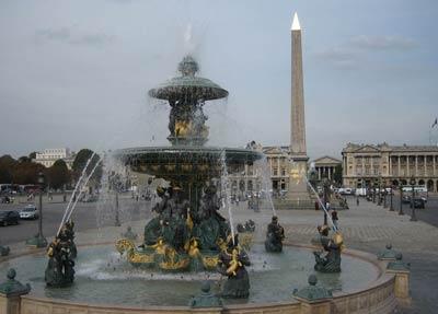Площадь Согласия в Париже (Place de la Concorde). Проект Анж-Жака Габриэля (Ange-Jacque Gabriel)
