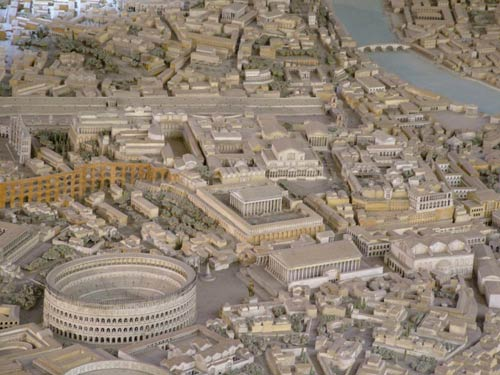 Реконструкция вида на холм Палатин, Рим