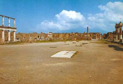 Современный вид храма Юпитера на Капитолийском холме