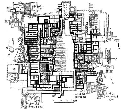 План Дворца в Кноссе. Крит