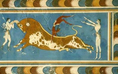 Роспись дворца в Кноссе. Крит