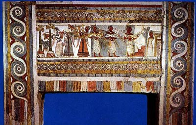 Роспись саркофага из Hagia Triada