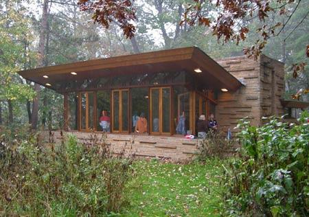 Органическая архитектура. Seth Peterson Cottage (1958). Фрэнк Ллойд Райт (Frank Lloyd Wright)
