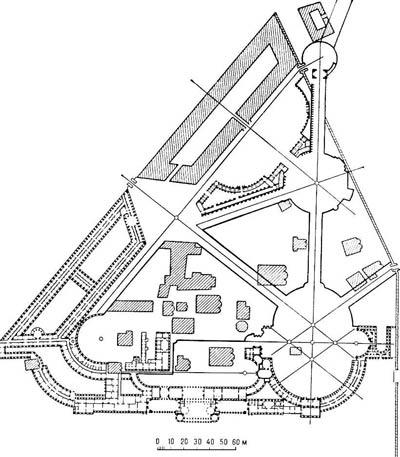 План реконструкции Московского кремля. Архитектор В.И. Баженов