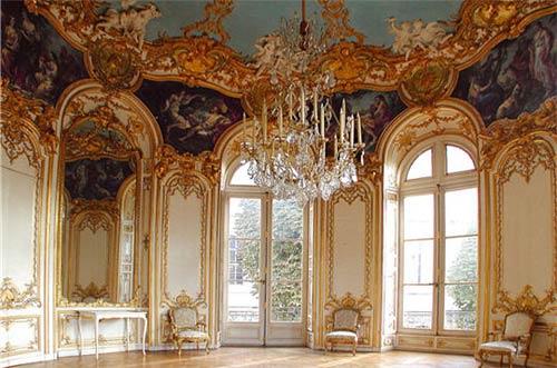 Интерьер отеля в стиле рококо. Габриель Жермен Бофран (Germain Boffrand)