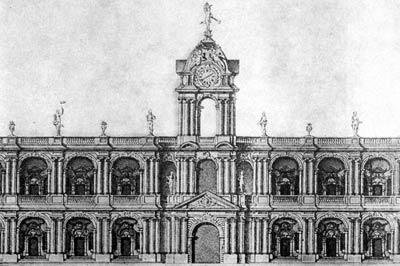 Проект Большого Гостиного двора. 1757 год