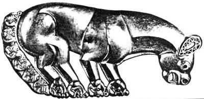 Скифская золотая пантера. Келермесский курган,  VI век до н.э.