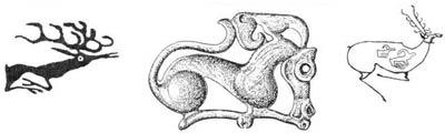 Травоядное (олень) - символический зооморфный образ модели мира