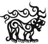 Отображение структуры мироздания в образе хищника с рогами оленя. Курган Туекта I, IV век до н.э.