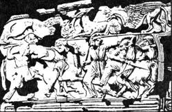 Обивка налучия из скифского кургана Солоха, V век до н.э.