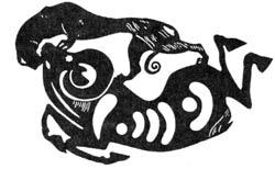 Украшение седельной покрышки скифо-сакского вождя. Первый Пазырыкский курган, V - IV век до н.э.