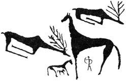 Символическая картина мироздания. Ферганская долина. I тыс. до н.э.
