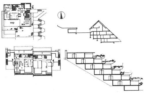 Жилые дома террасного типа. Строительное проектирование. Нойферт
