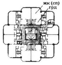 Рис. 1. Жилые дома башенного типа — односекционные. Строительное проектирование. Нойферт