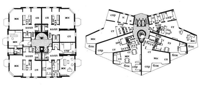 Жилые дома башенного типа — односекционные. Строительное проектирование. Нойферт