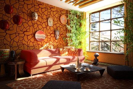Особенности африканского стиля в дизайне комнаты