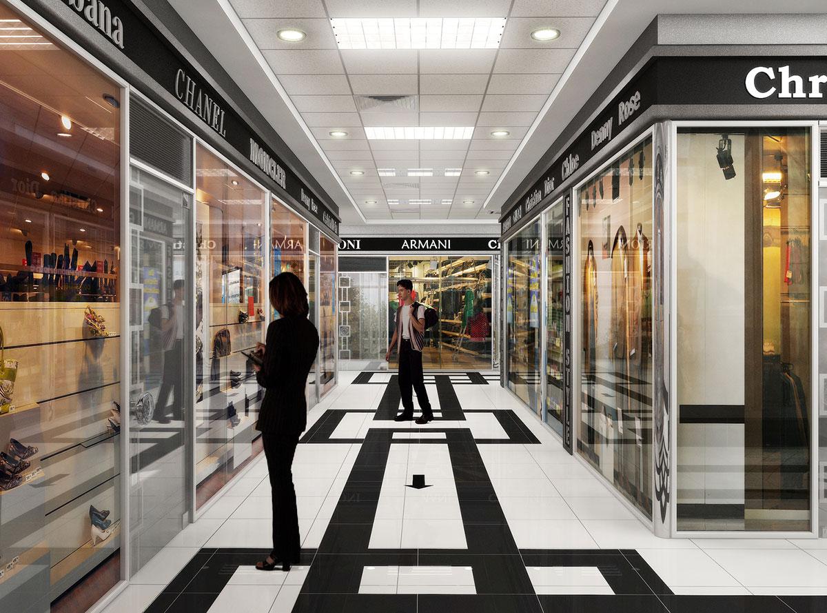 Интерьер супермаркета Магнит