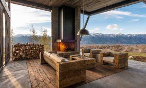 Дизайн дачного дома в горах