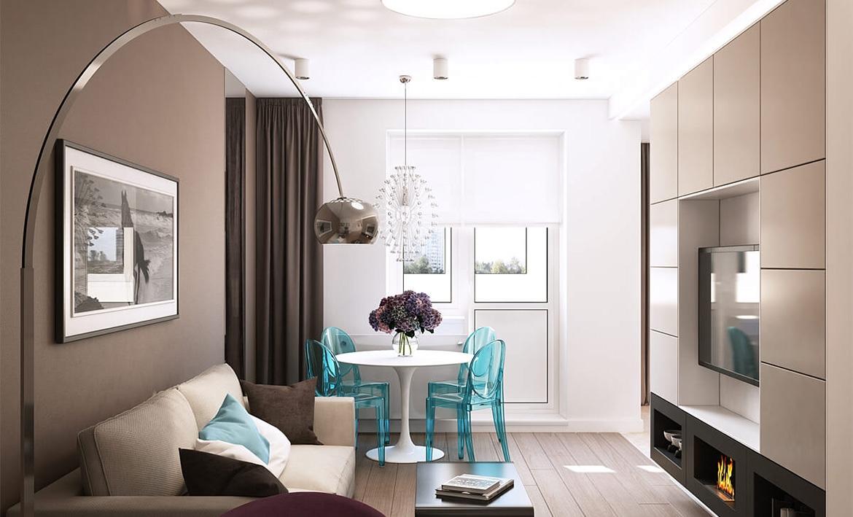 Дизайн 2-х комнатной квартиры 60 кв. м.