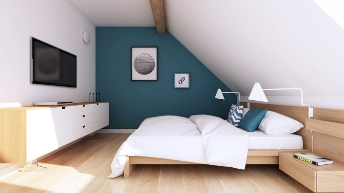 Современный дизайн мансардной квартиры