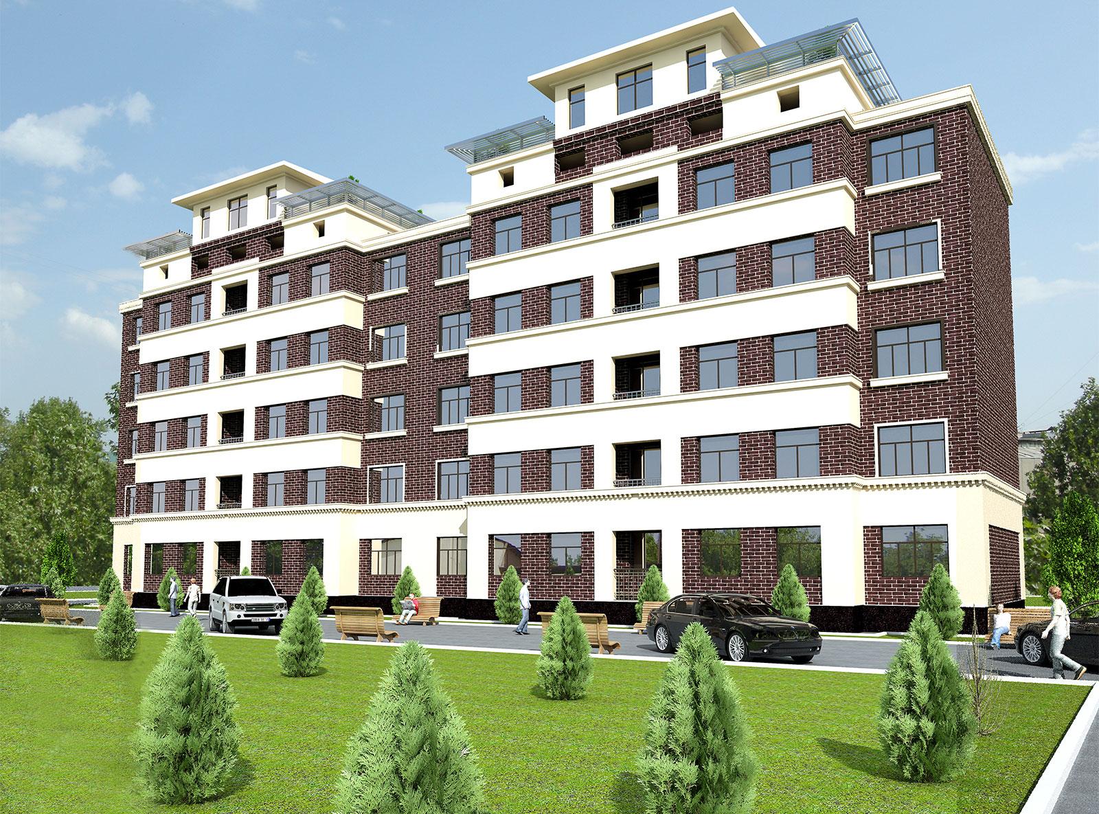Проект пятиэтажного жилого комплекса