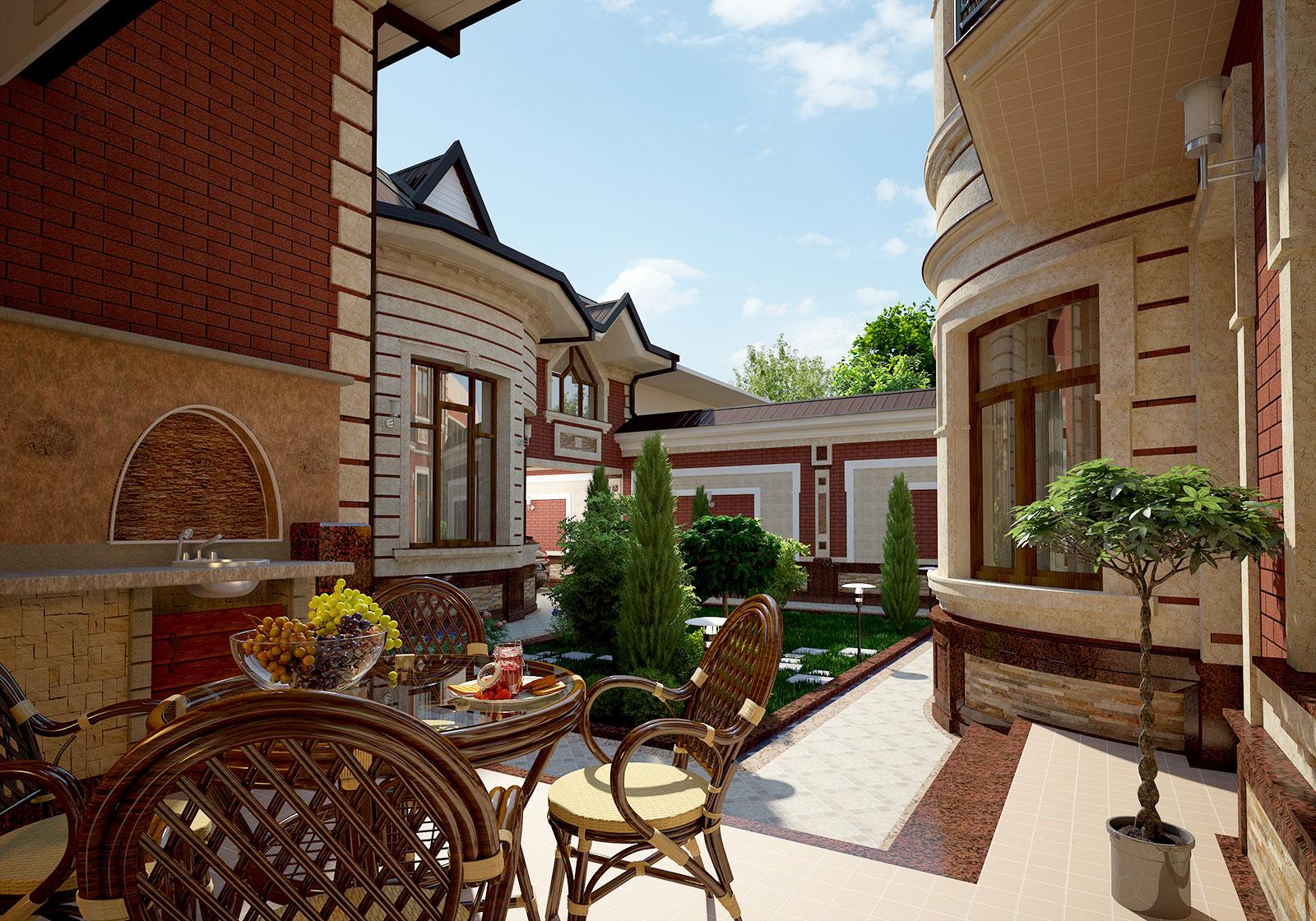 Частный дом из кирпича в Ташкенте