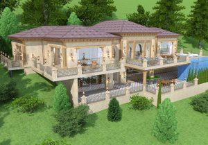 Двухуровневый дачный дом в Паркенте