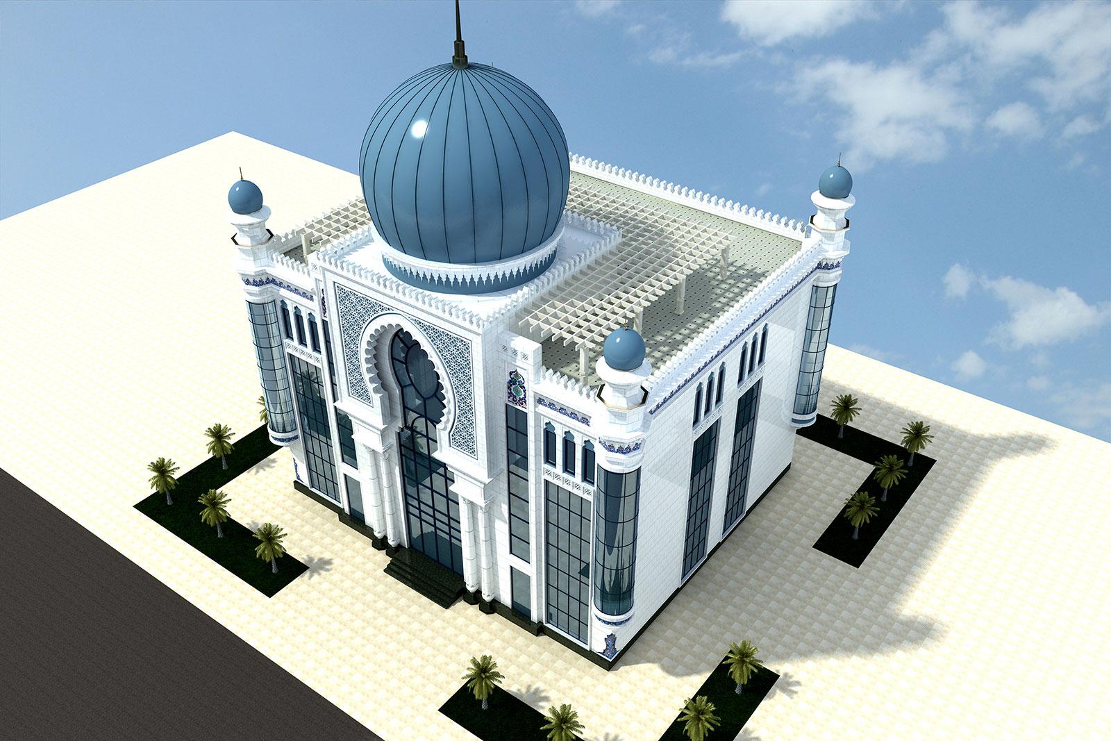 Проект офисного здания с террасой на крыше