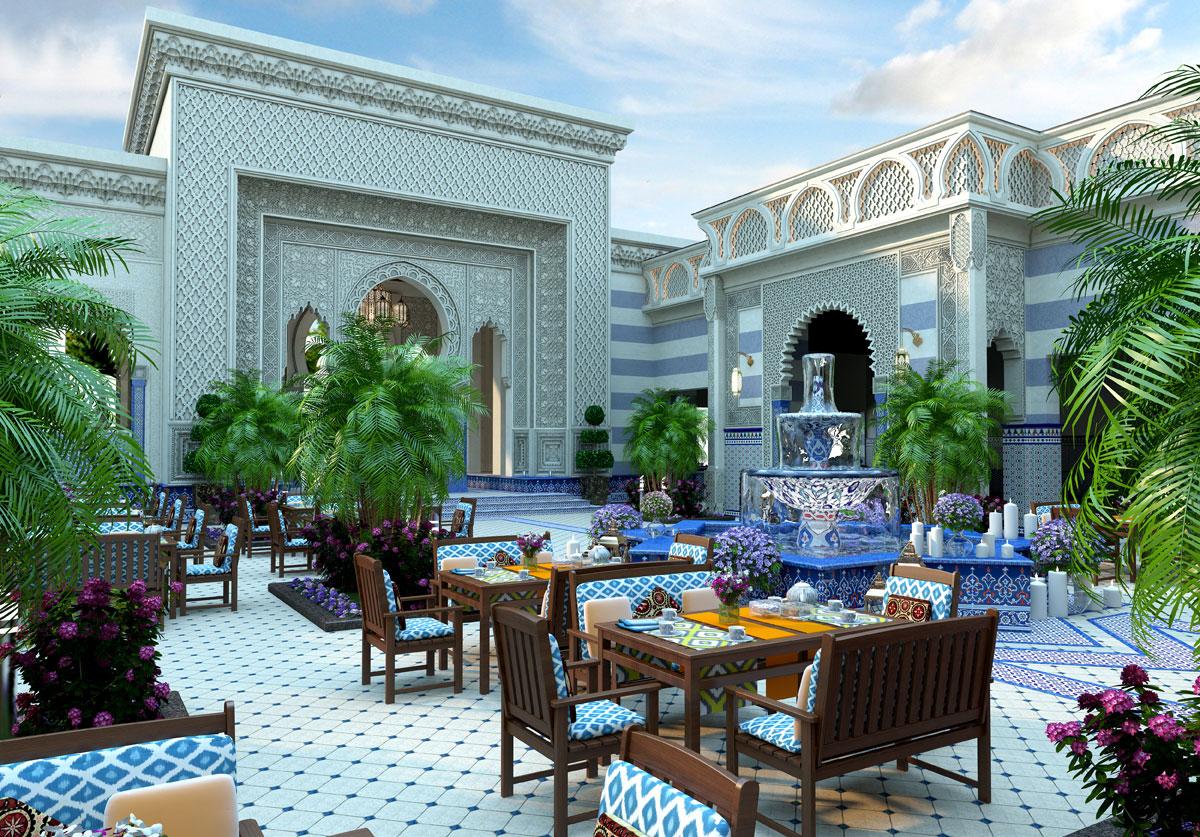 Дизайн ресторана в восточном стиле