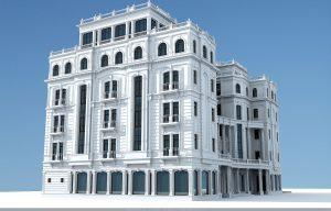"3D макет проекта гостиницы ""OASIS PALACE"""