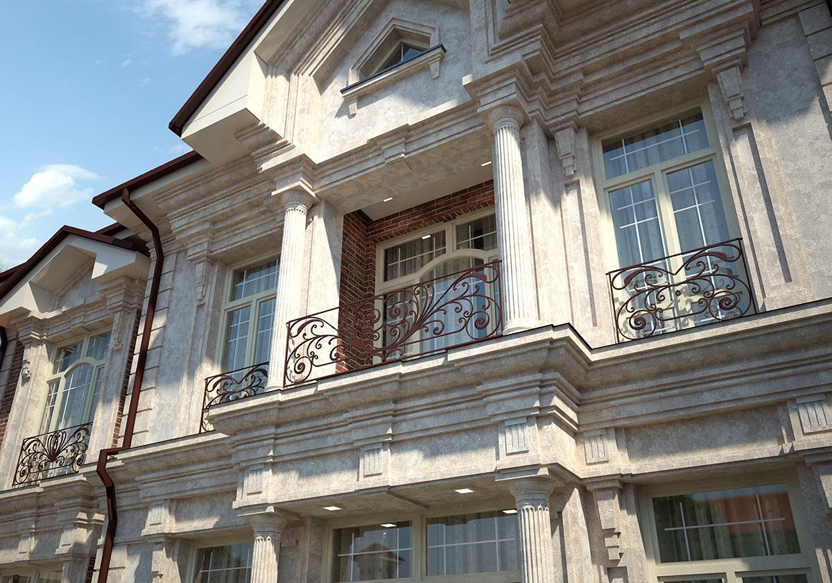 Эксклюзивный проект с мраморным фасадом