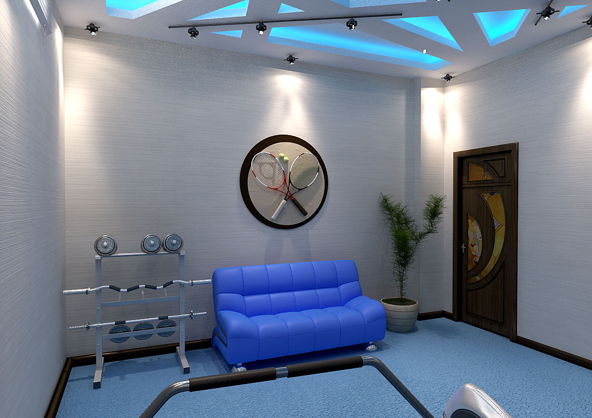 Дизайн фитнес зала