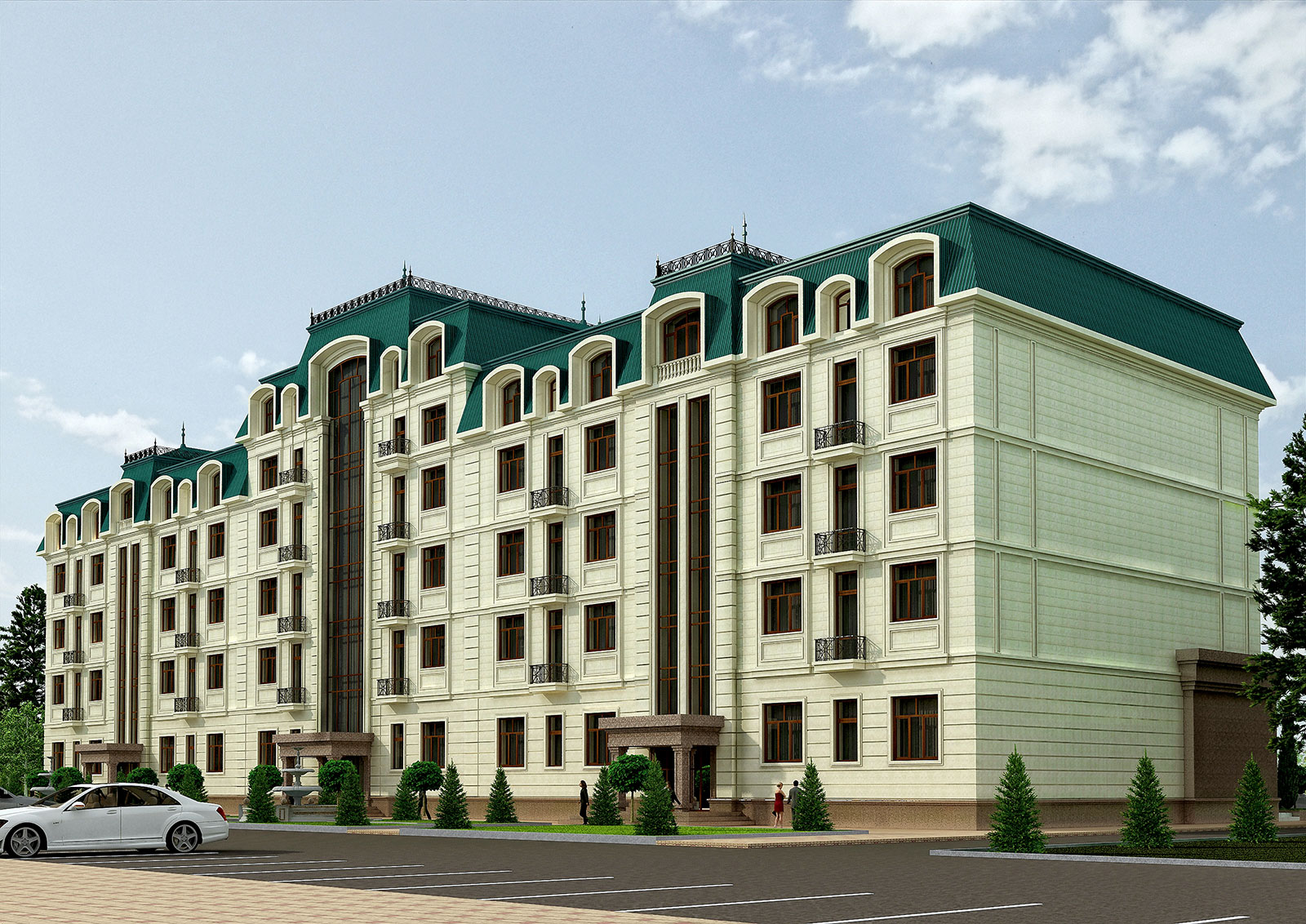 Проект 5-этажного 3-секционного жилого дома