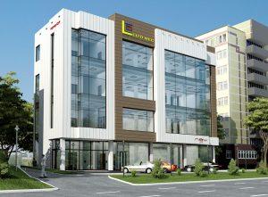 Четырёхэтажный бизнес центре в Лабзаке