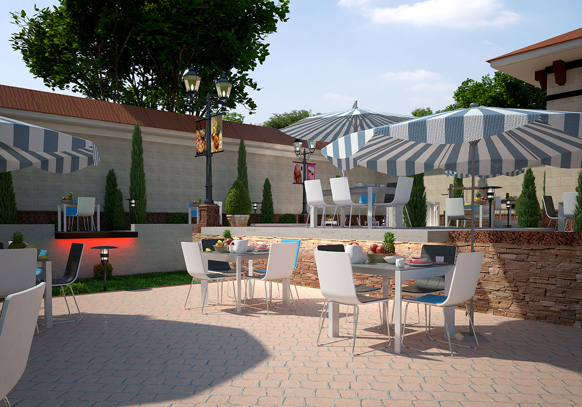 "Интерьер и ландшафтный дизайн ресторана ""Шедевр Гарден"""