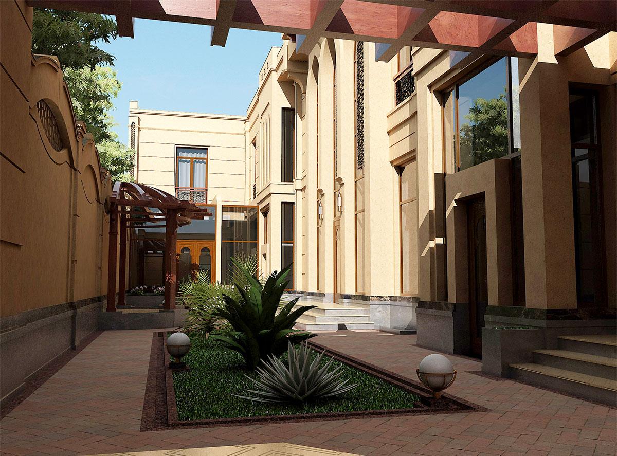 Проект дома в арабском стиле