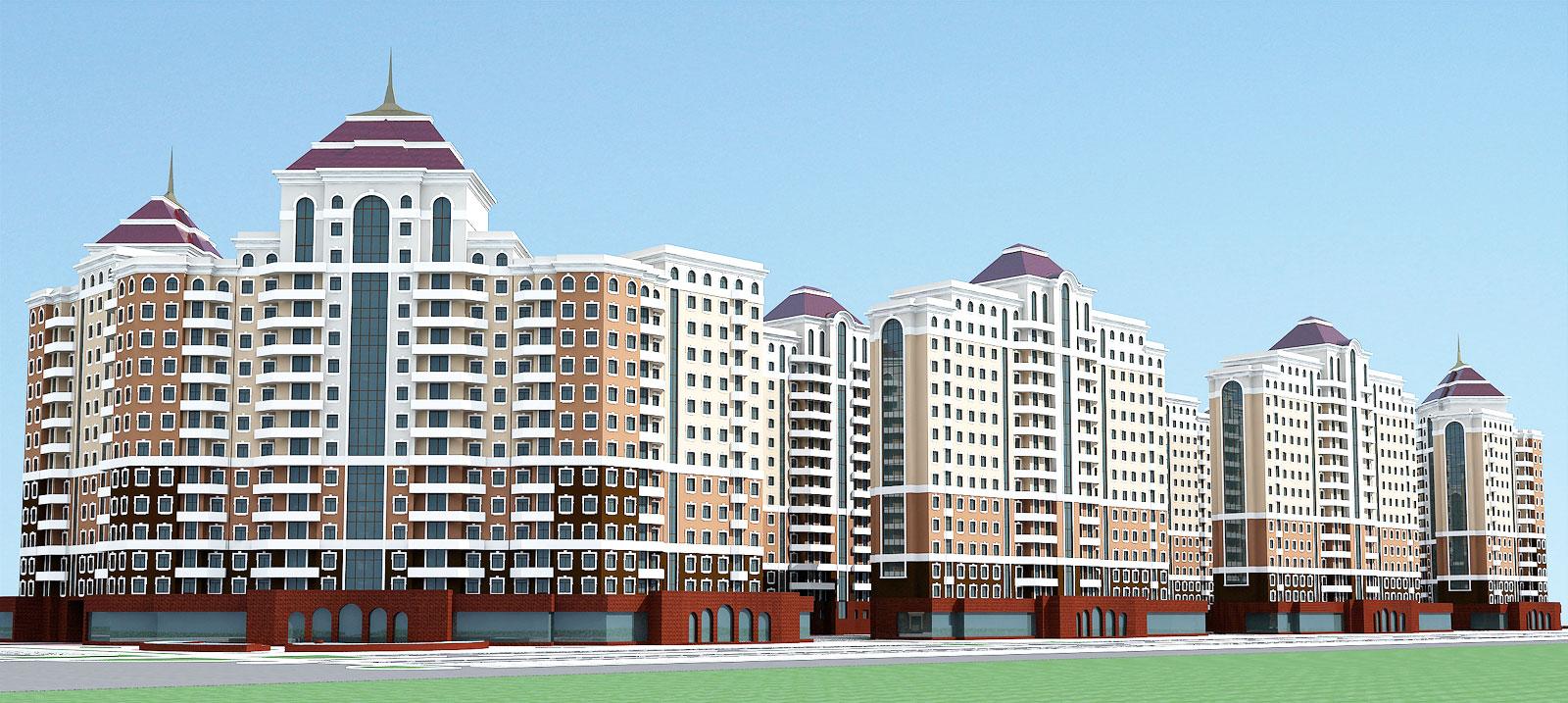 Проект многоэтажных домов с мансардой