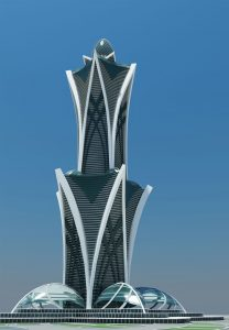Проект небоскреба в Дубае