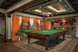 Дизайн бильярдной комнаты в доме