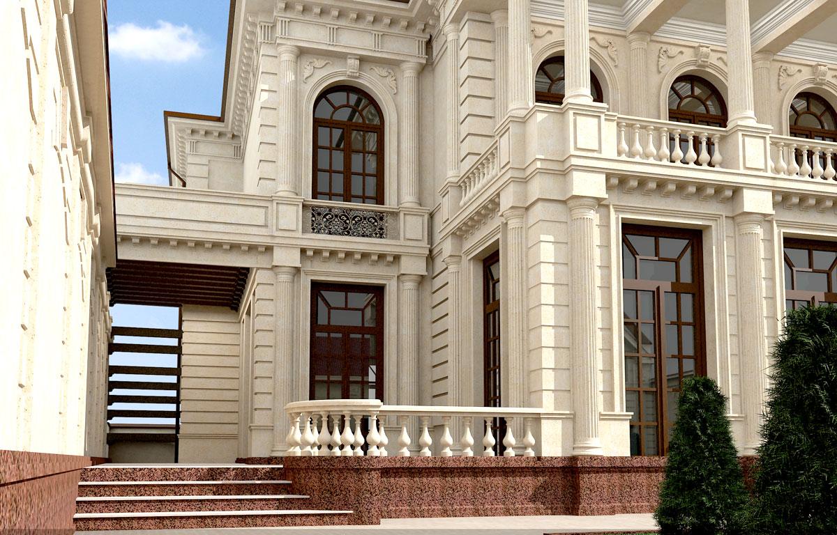 Красивый дома в стиле ампир в Ташкенте