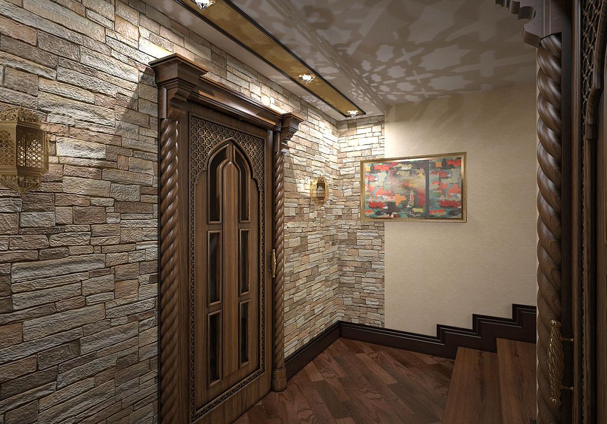 Интерьер дома в восточном стиле в Ташкенте - Бильярдной