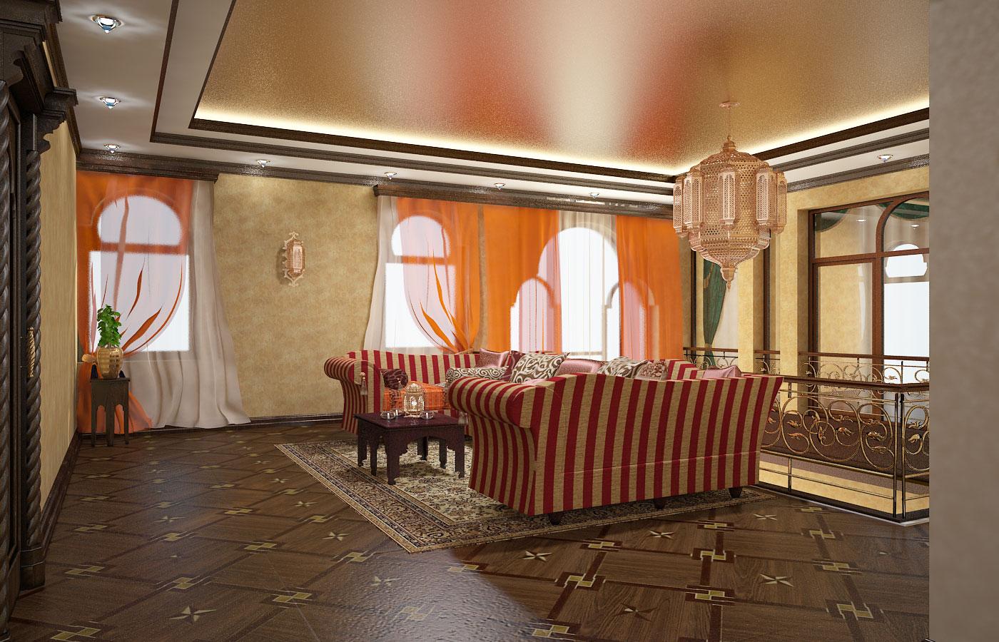 Интерьер дома в восточном стиле в Ташкенте